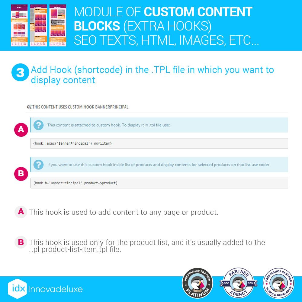 module - SEO (Pozycjonowanie naturalne) - Custom content blocks (SEO Text, HTML, Links, Images) - 4