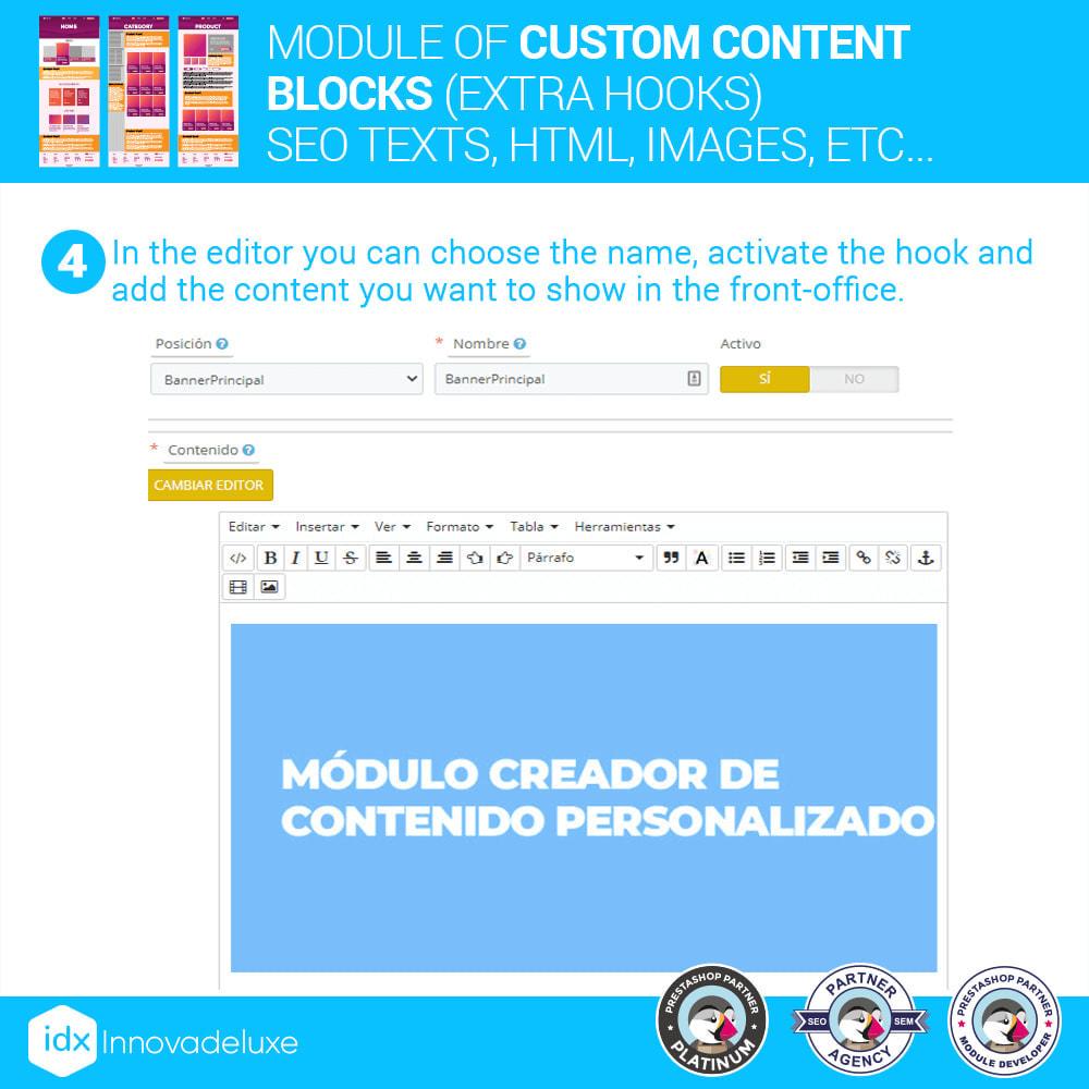 module - SEO (Pozycjonowanie naturalne) - Custom content blocks (SEO Text, HTML, Links, Images) - 5