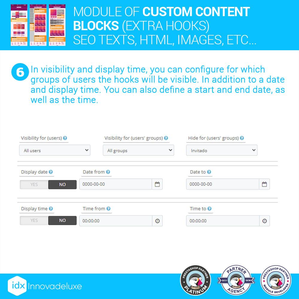 module - SEO (Pozycjonowanie naturalne) - Custom content blocks (SEO Text, HTML, Links, Images) - 9