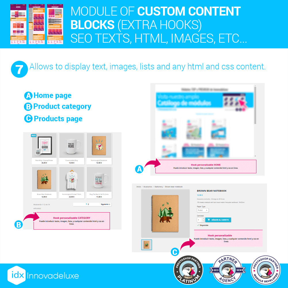 module - SEO (Pozycjonowanie naturalne) - Custom content blocks (SEO Text, HTML, Links, Images) - 10