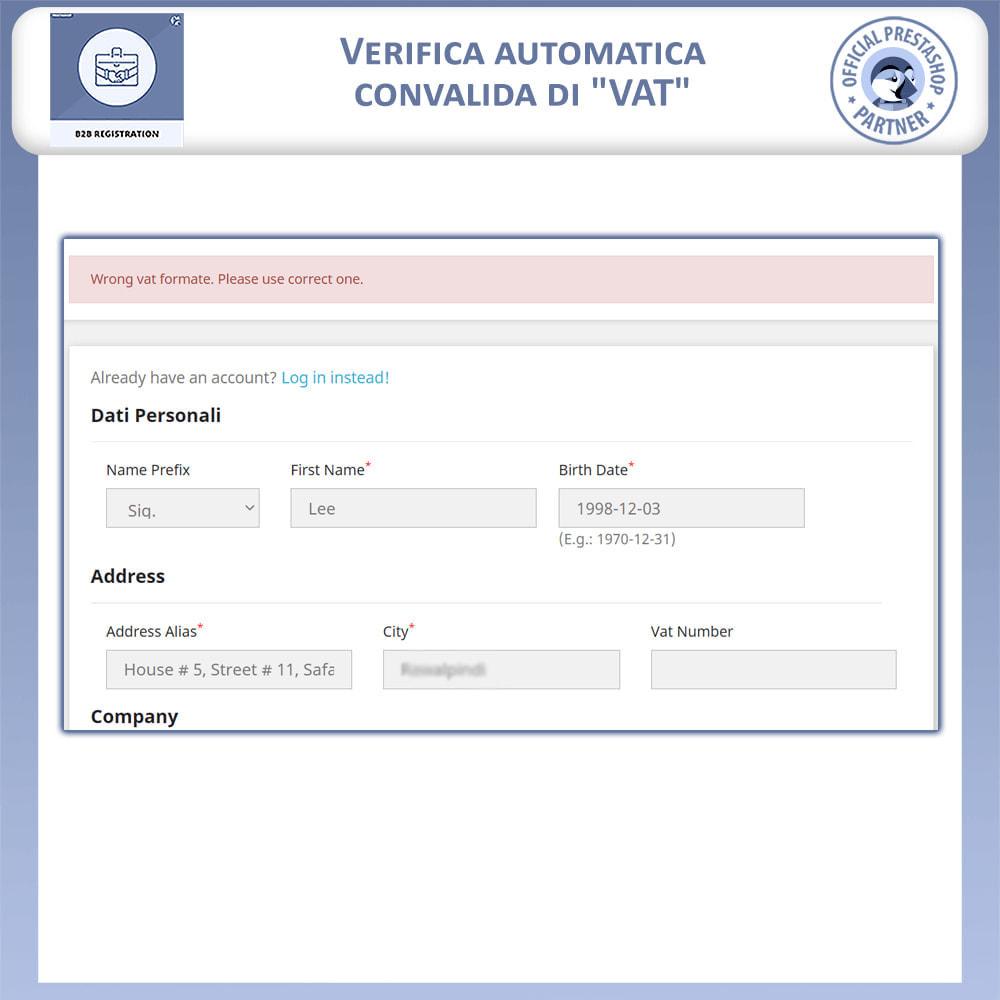 module - Iscrizione e Processo di ordinazione - Registrazione B2B - 6