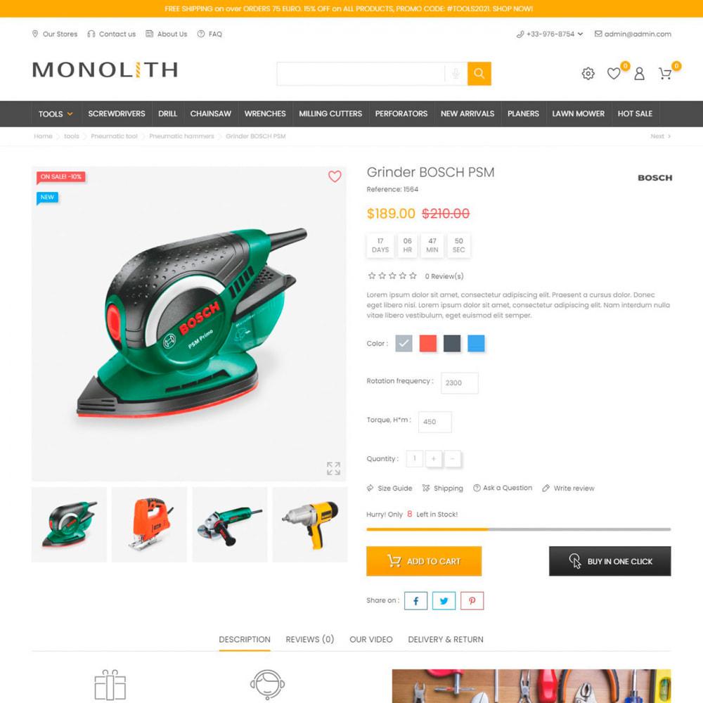 theme - Automotive & Cars - Monolith - Car & Tools, Sport & Travel, Garden & Art - 5