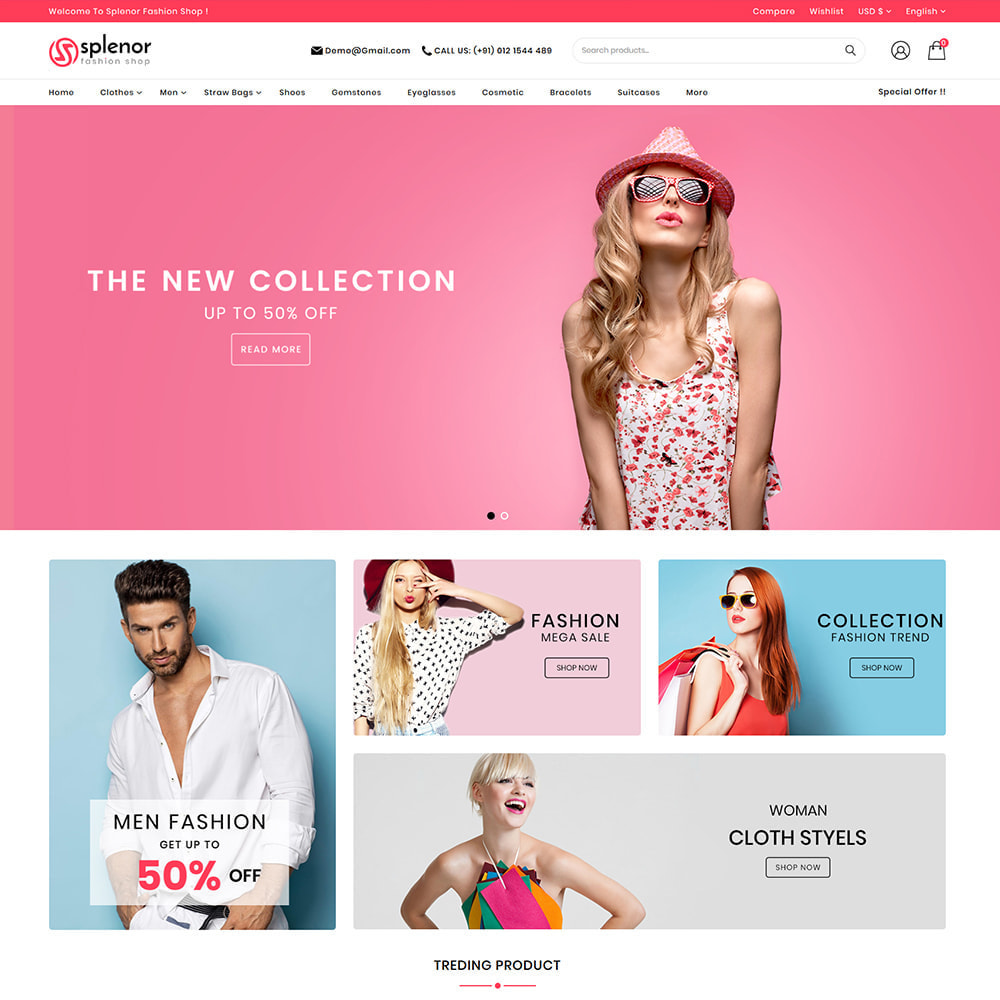 theme - Moda y Calzado - Splenor - Multipurpose Fashion Store - 2
