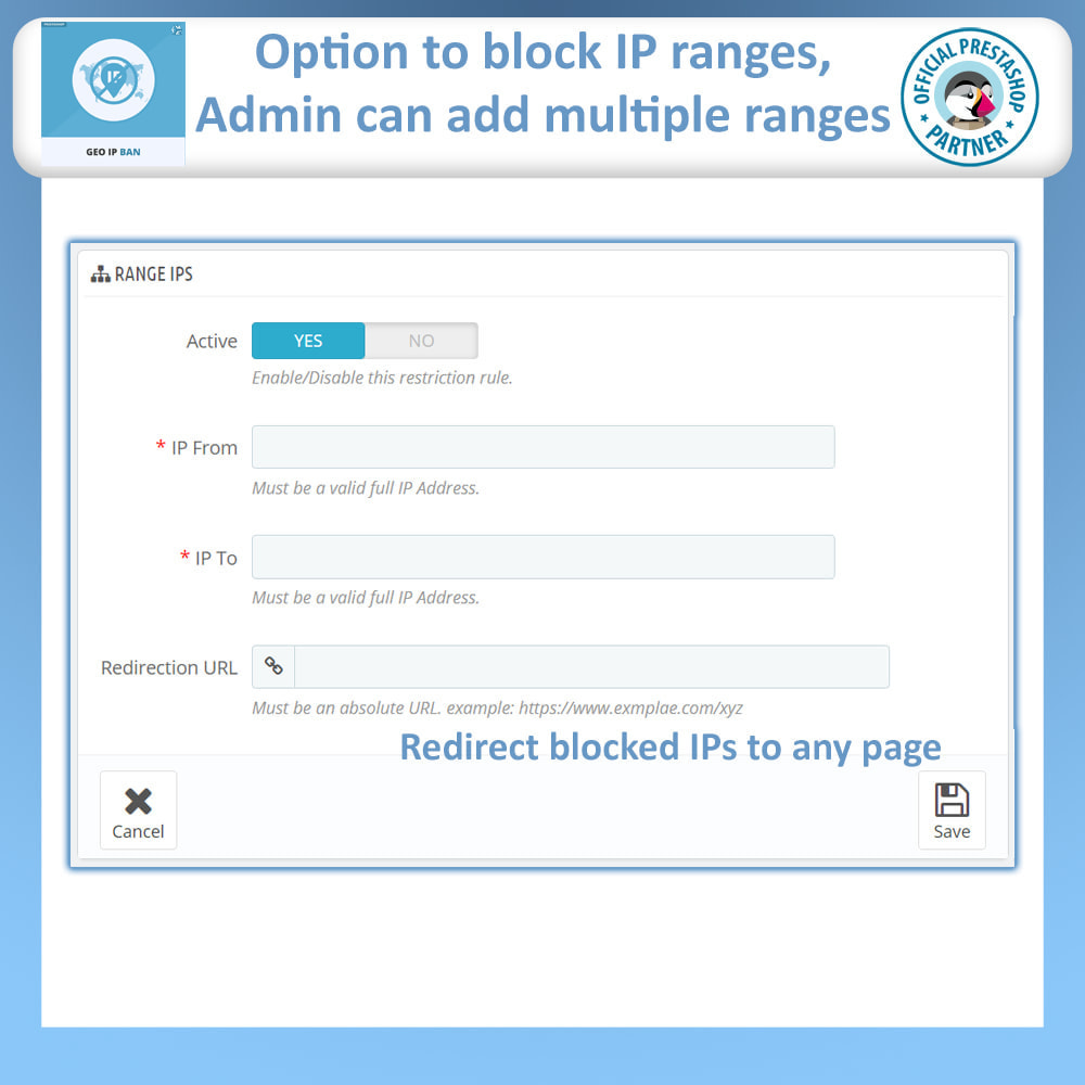 module - Segurança & Acesso - Geo IP Ban - Block IP Bots & Users by IP or Country - 7