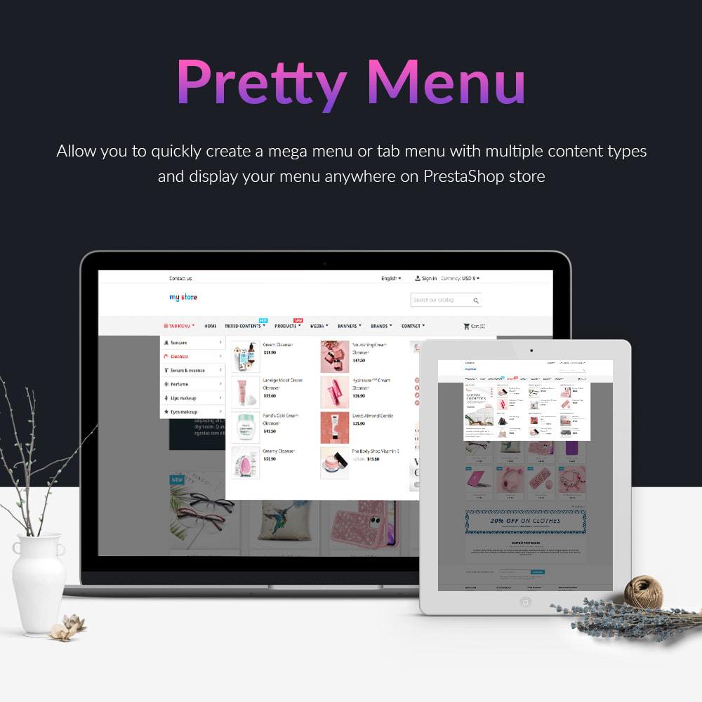 module - Menu - Pretty Menu - Advanced menu builder - 1