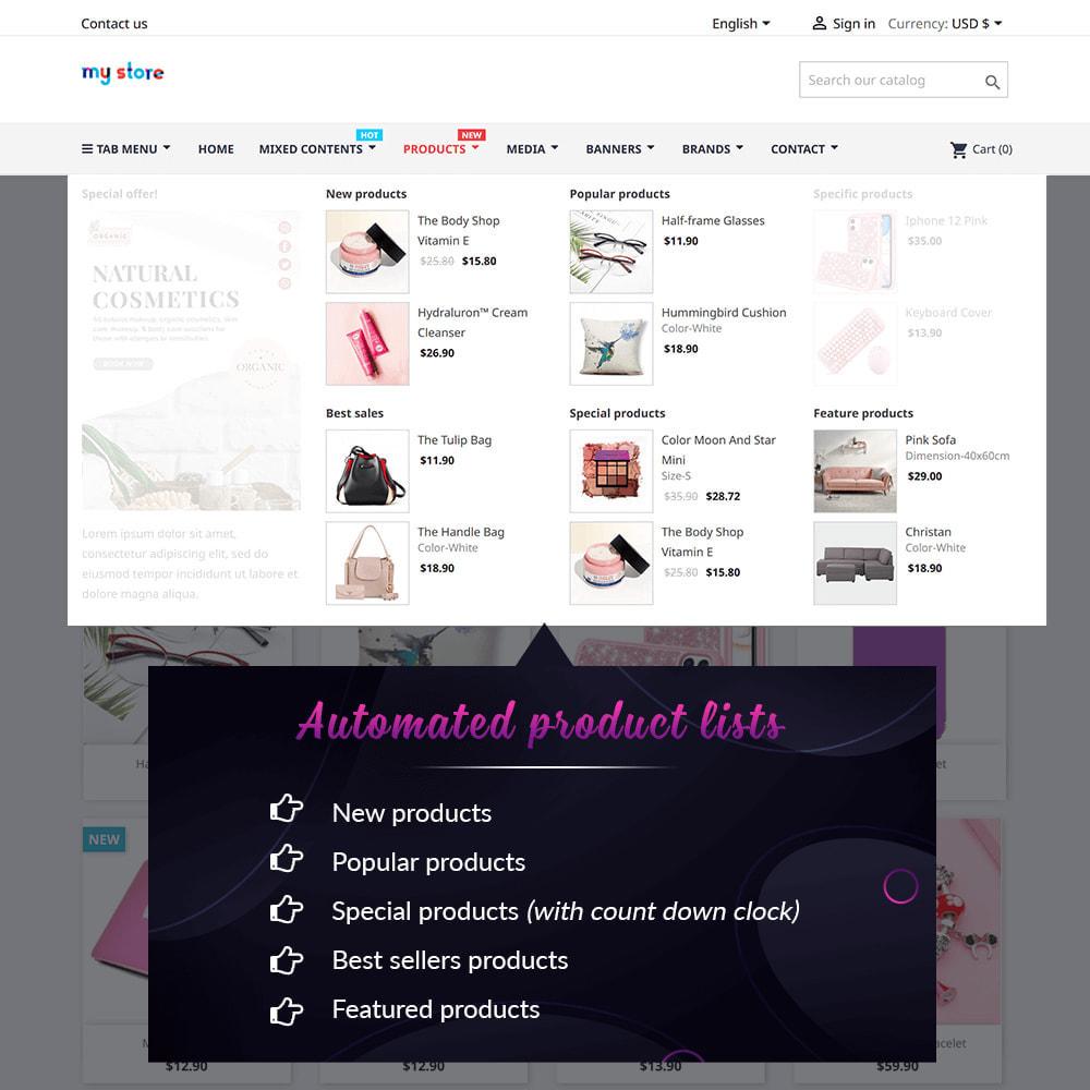 module - Menu - Pretty Menu - Advanced menu builder - 5