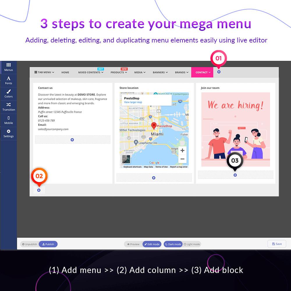 module - Menu - Pretty Menu - Advanced menu builder - 6