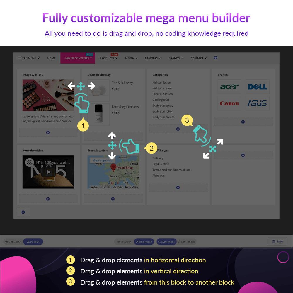 module - Menu - Pretty Menu - Advanced menu builder - 7
