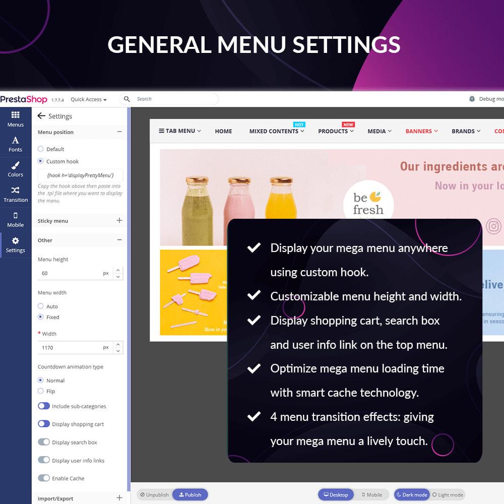 module - Menu - Pretty Menu - Advanced menu builder - 12