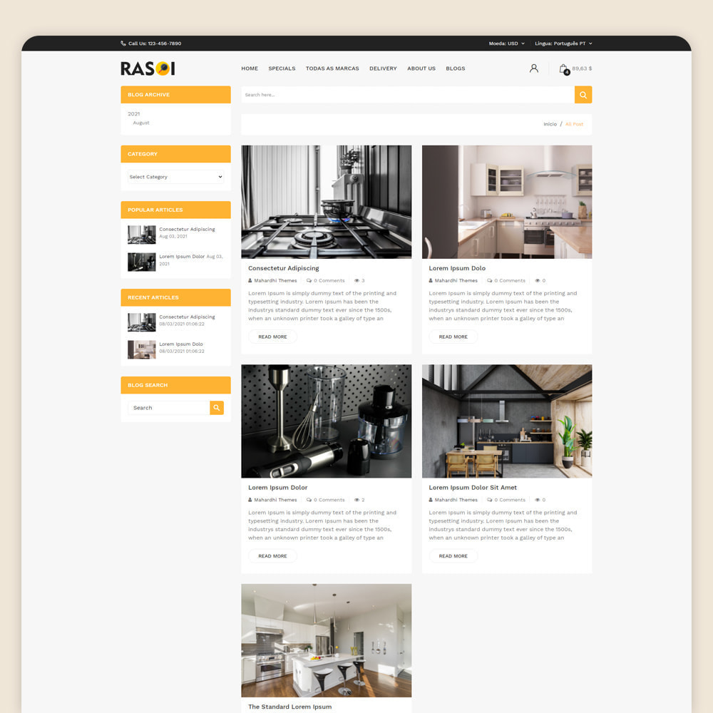 theme - Casa & Jardins - Rasoi - Eletrodomésticos e cozinhas - 5