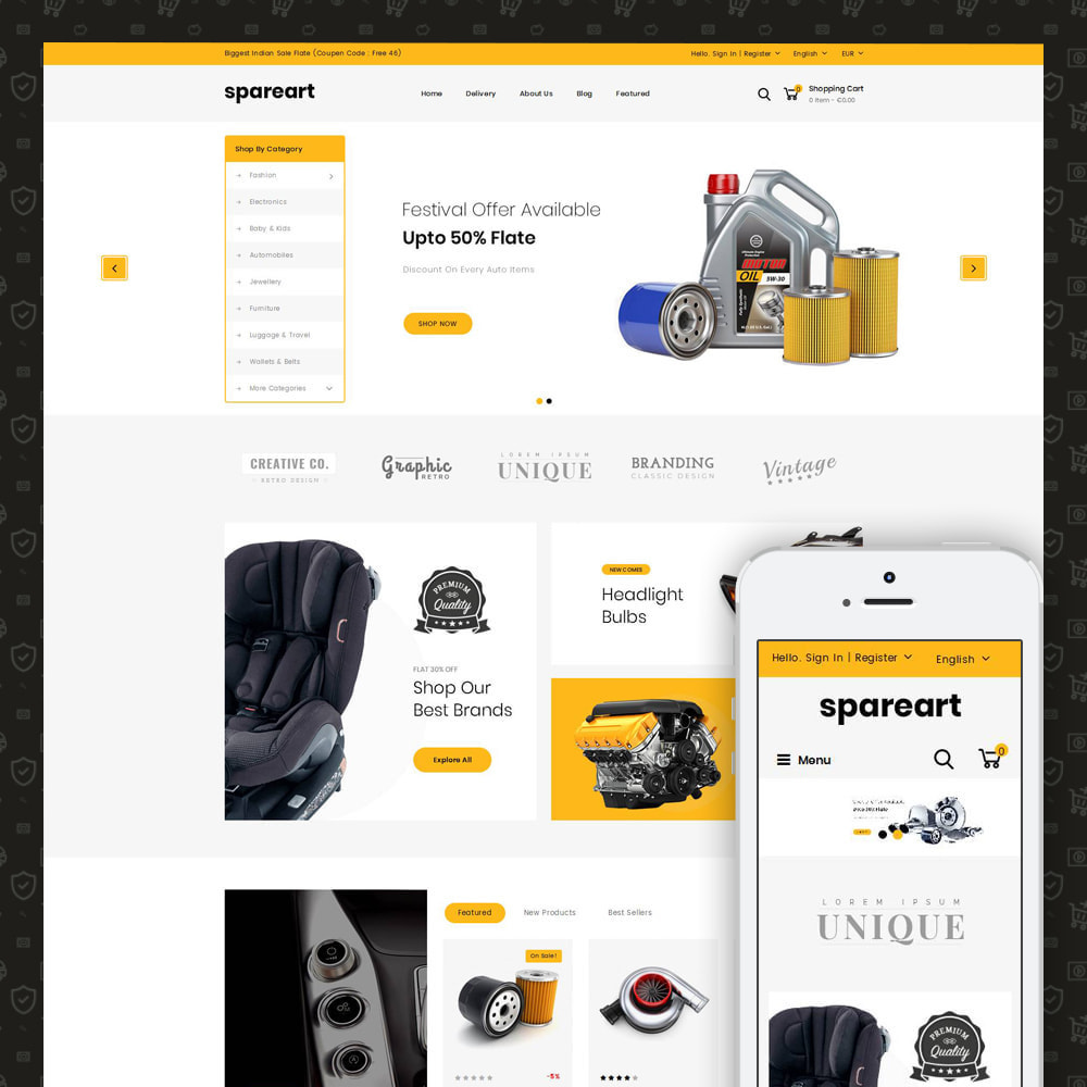 theme - Automotive & Cars - Sparearts - AutoParts Store - 1