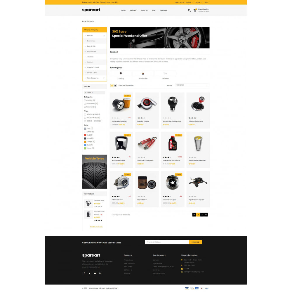theme - Automotive & Cars - Sparearts - AutoParts Store - 3