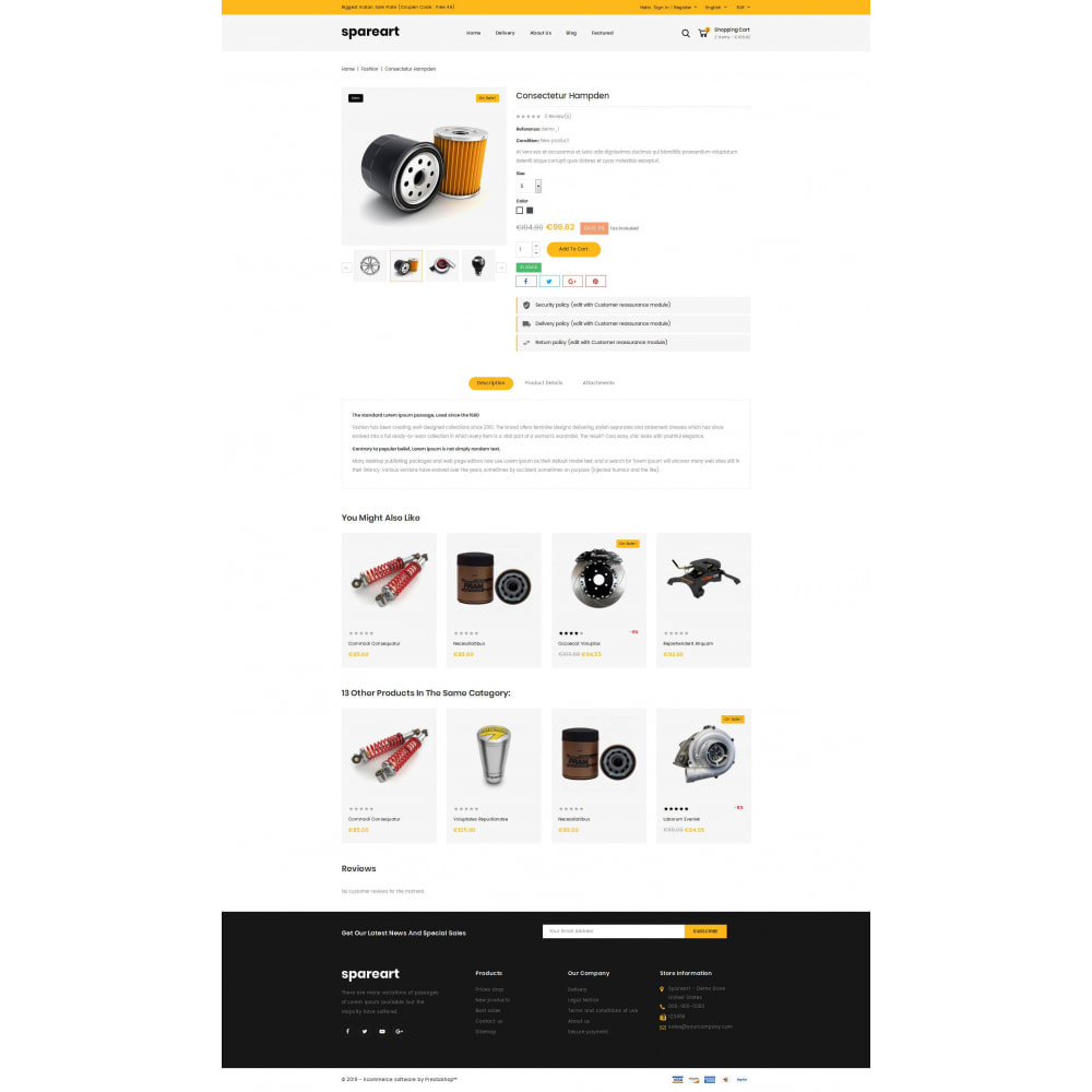 theme - Automotive & Cars - Sparearts - AutoParts Store - 5
