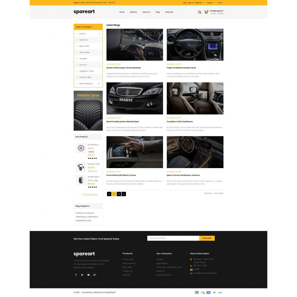 theme - Automotive & Cars - Sparearts - AutoParts Store - 9