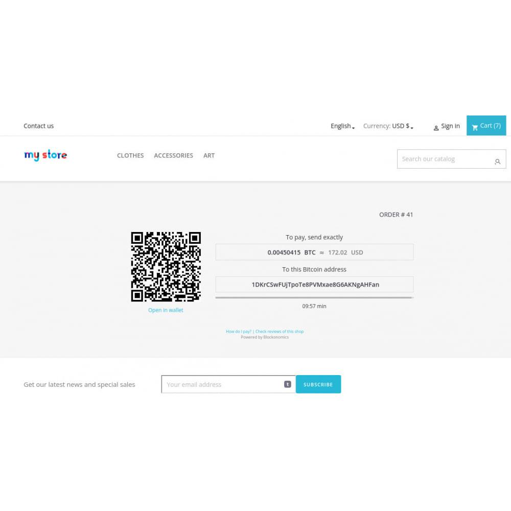 module - Альтернативных способов оплаты - Blockonomics Bitcoin payments - 1