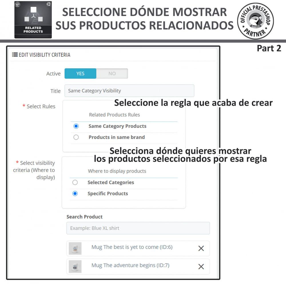 module - Ventas cruzadas y Packs de productos - Deslizador de productos relacionados / similares - 8