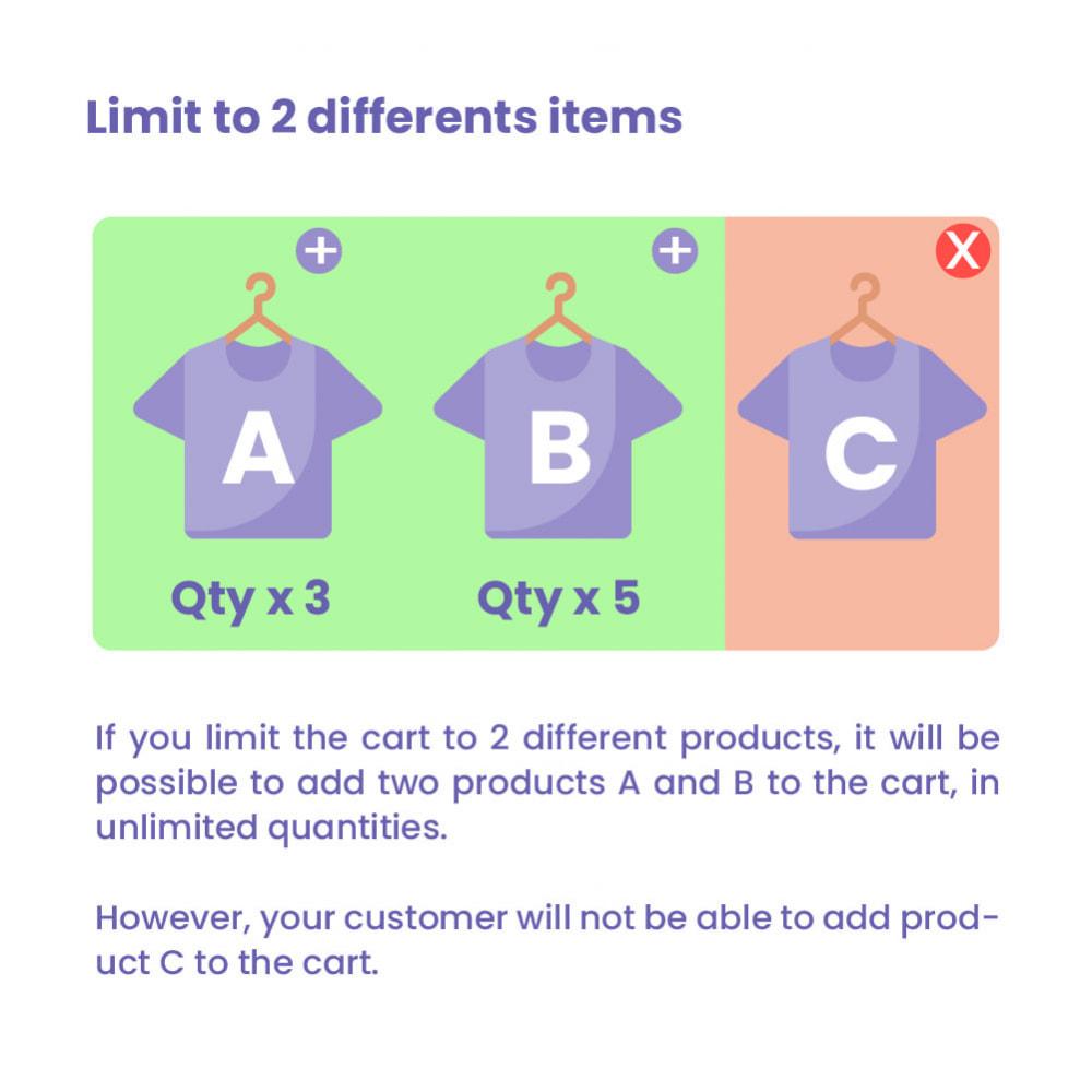 module - Pегистрации и оформления заказа - Cart Quantity Limitation - 2