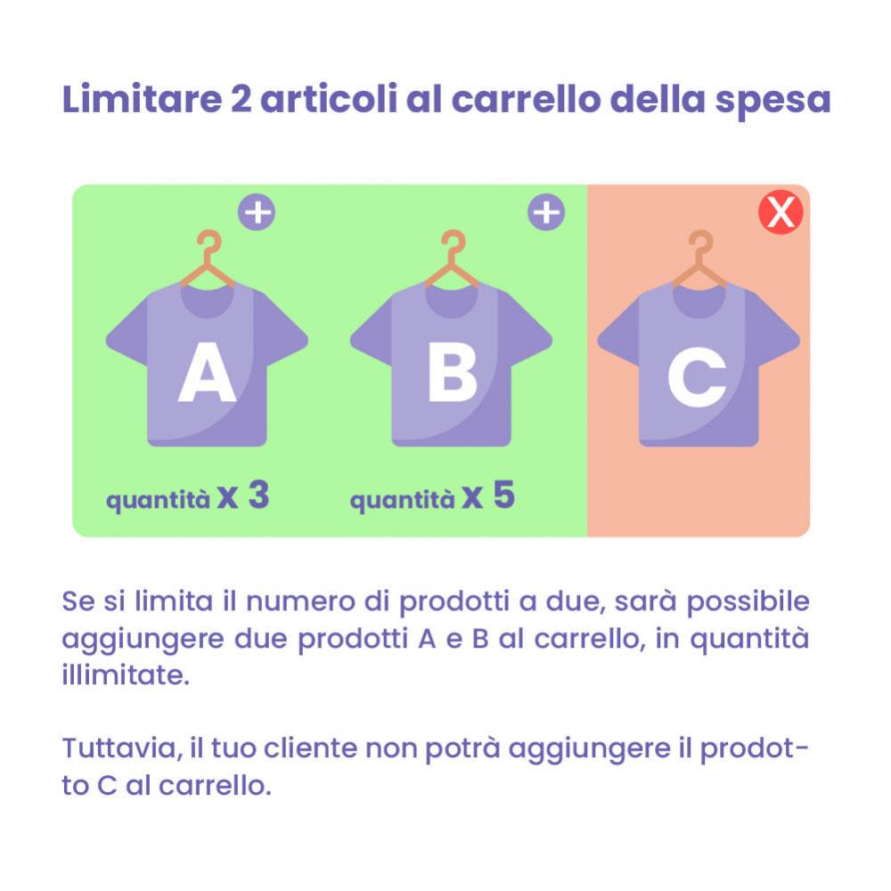 module - Iscrizione e Processo di ordinazione - Modulo limitazione carrello - 2