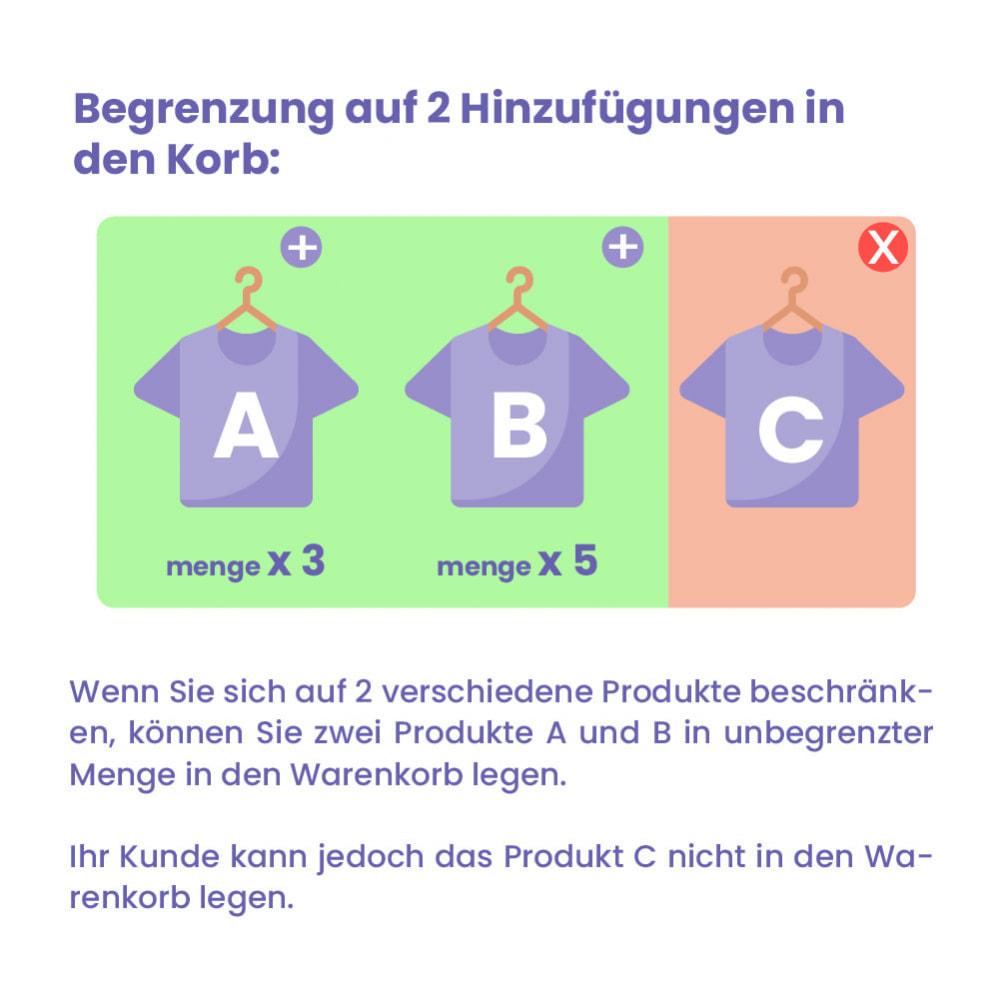 module - Anmeldung und Bestellvorgang - Modul Begrenzung des Warenkorbs - 2