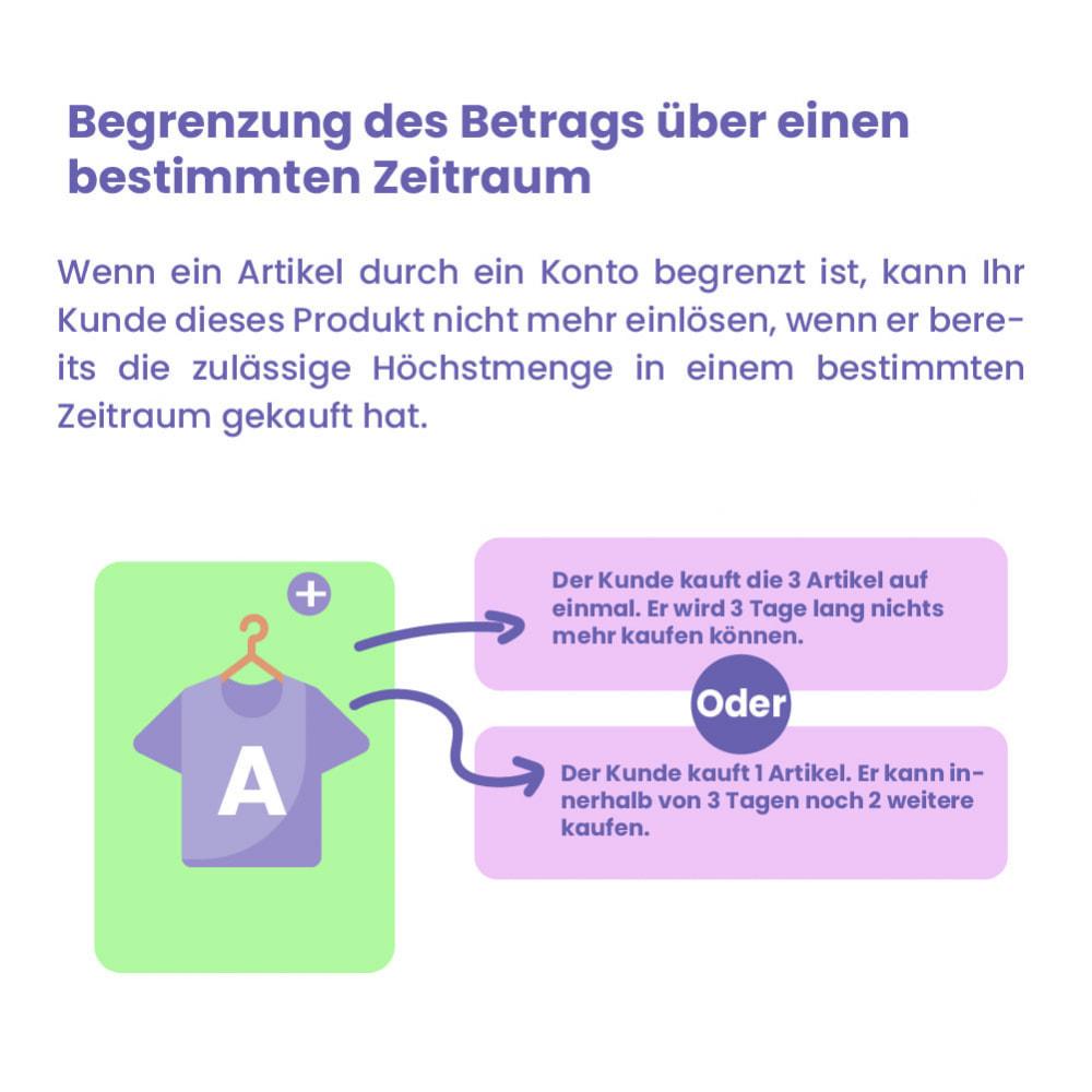 module - Anmeldung und Bestellvorgang - Modul Begrenzung des Warenkorbs - 6