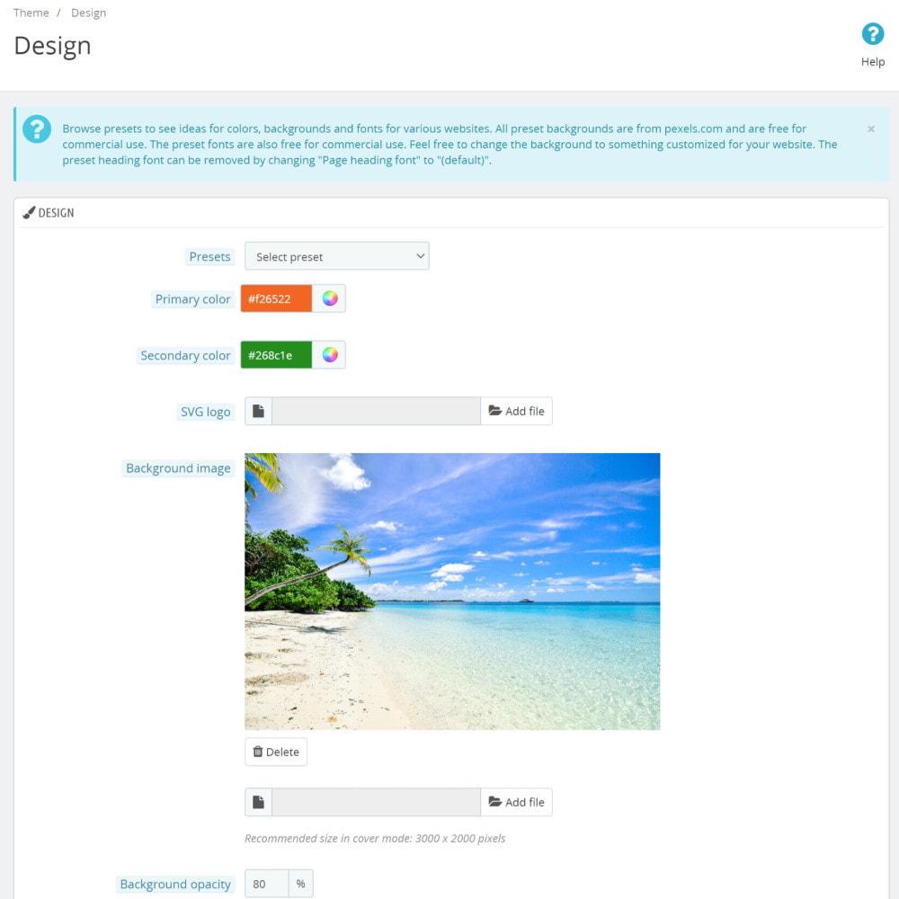 module - Individuelle Seitengestaltung - Classic Theme Customizer - 2