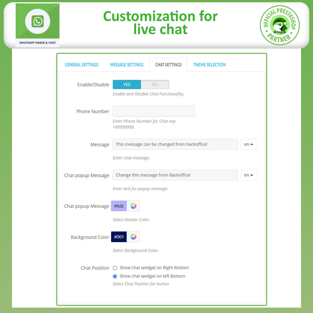 module - Support & Online Chat - Whatsapp Order and Whatsapp Chat - 13