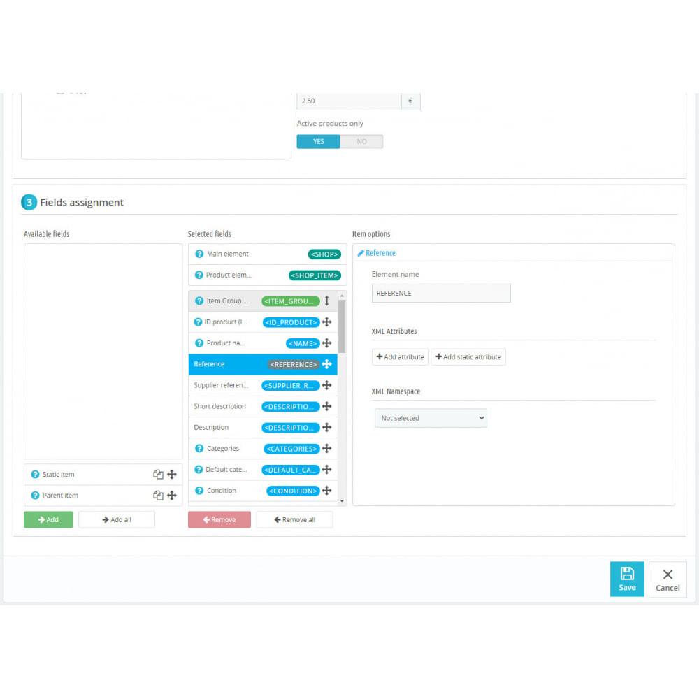 module - Импорт и Экспорт данных - XML Product feeds - 6
