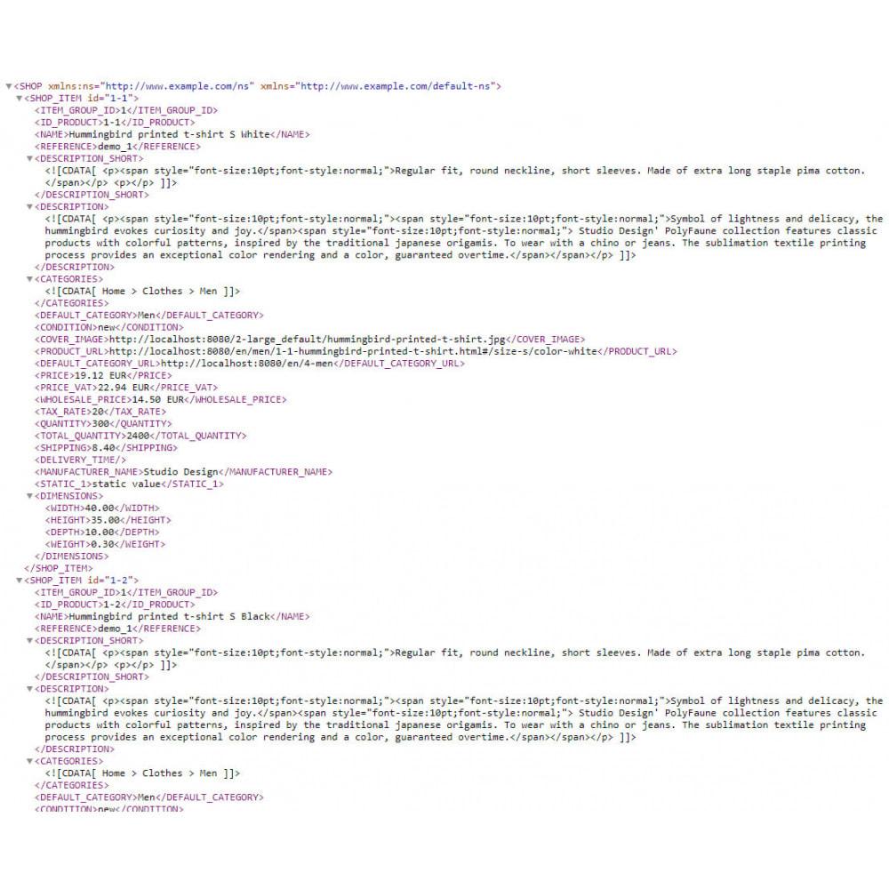 module - Импорт и Экспорт данных - XML Product feeds - 9