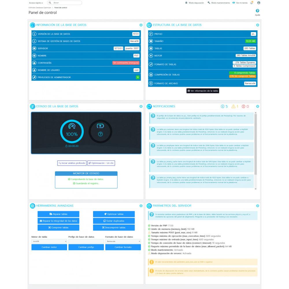 module - Rendimiento del sitio web - Ultimate Database Optimizer - Optimizador base de datos - 7