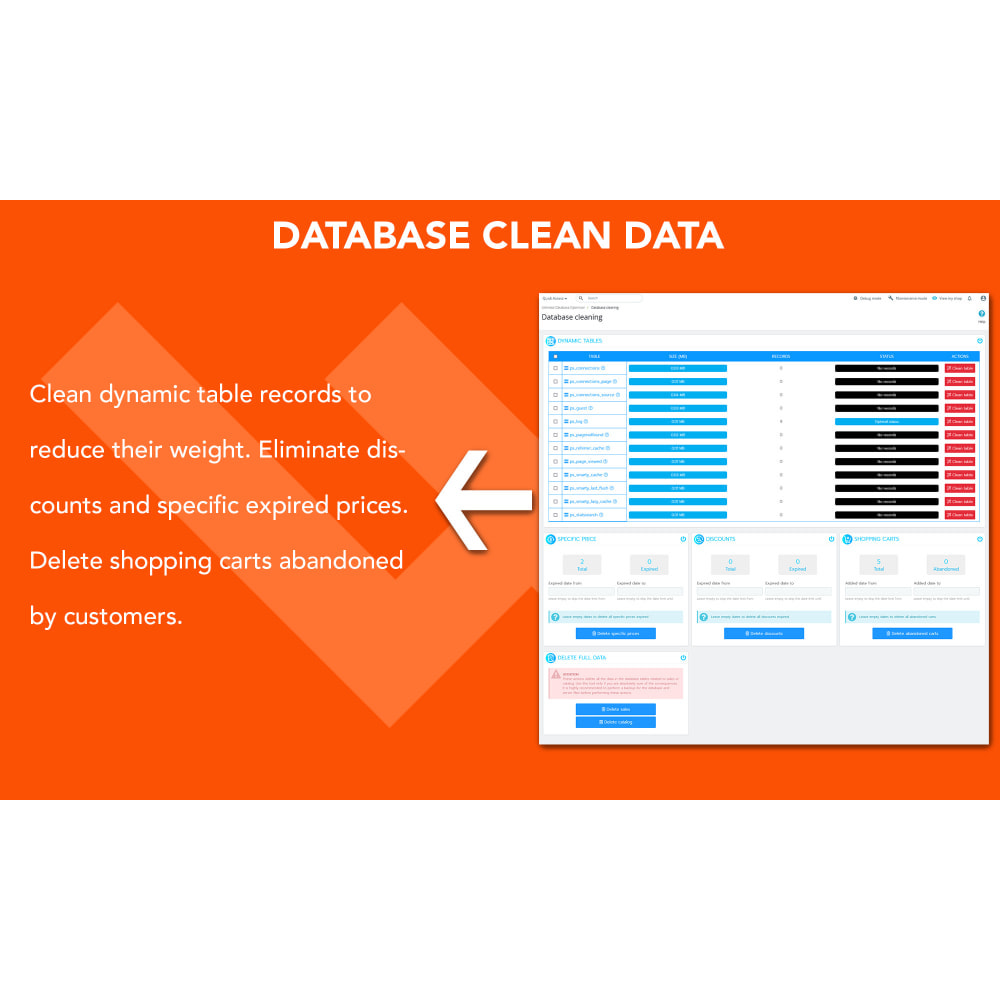 module - Повышения эффективности сайта - Ultimate Database Optimizer - Optimizes and repairs - 4