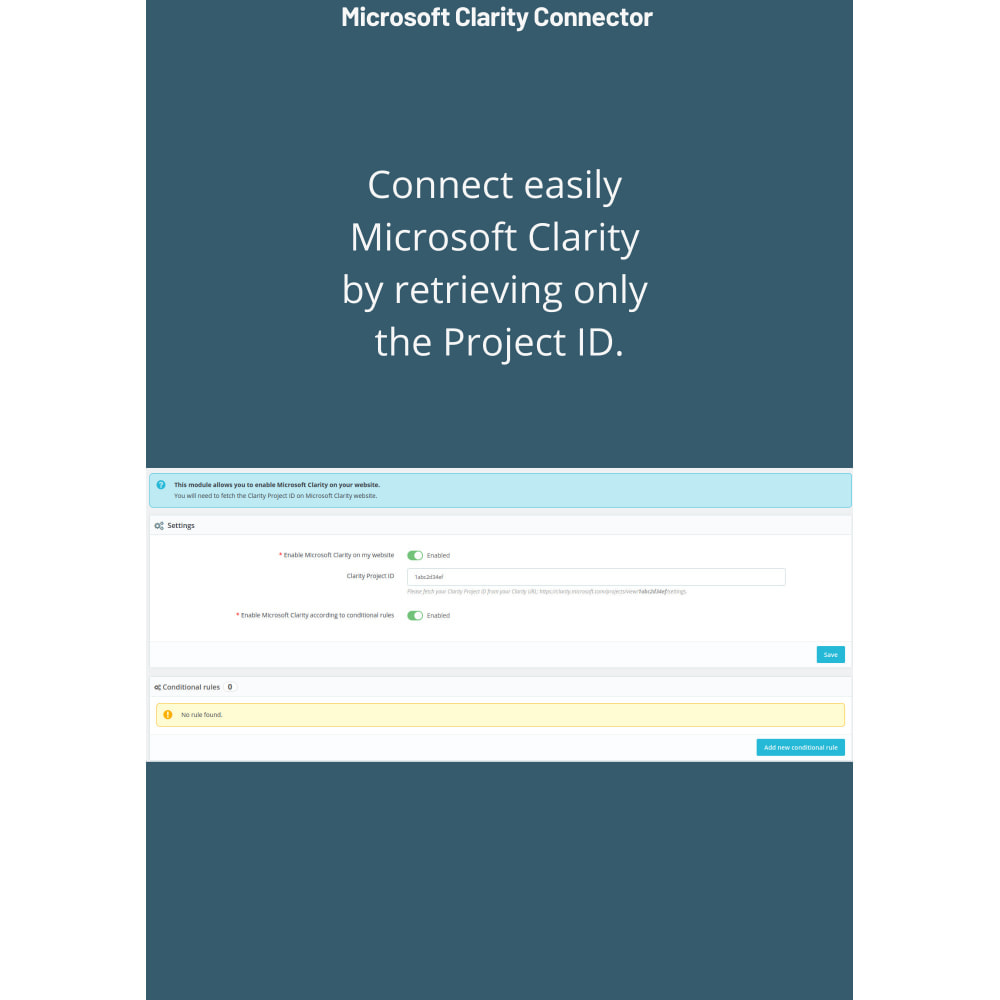 module - Third-party Data Integration (CRM, ERP...) - Microsoft Clarity Connector - 2