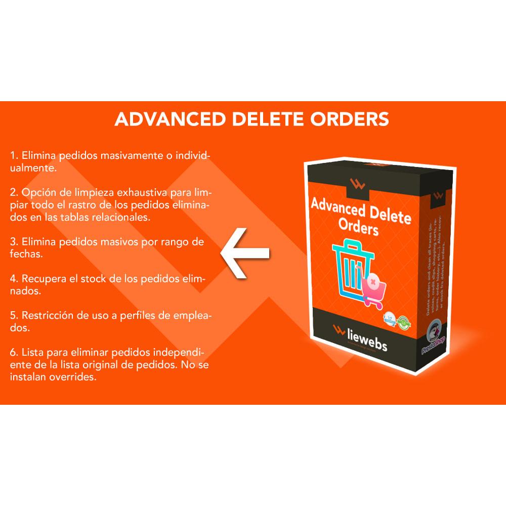 module - Gestión de Pedidos - Advanced Delete Orders - Elimina pedidos y repone stock - 1