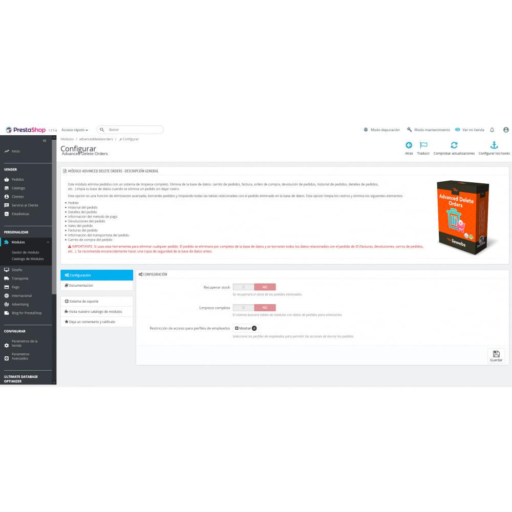 module - Gestión de Pedidos - Advanced Delete Orders - Elimina pedidos y repone stock - 6