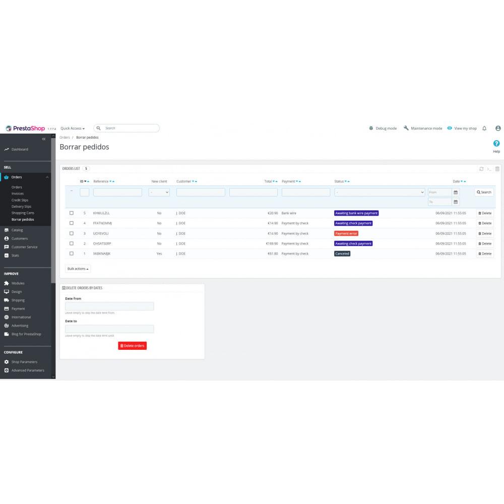 module - Orderbeheer - Advanced Delete Orders - Remove orders - recover stock - 4
