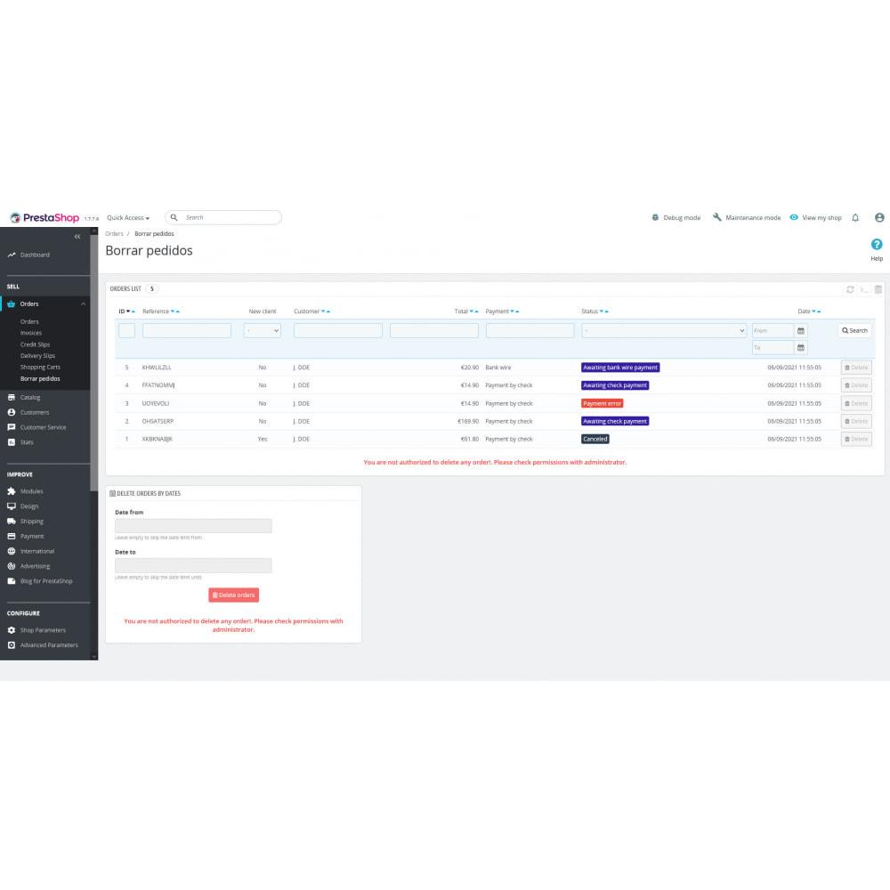 module - Orderbeheer - Advanced Delete Orders - Remove orders - recover stock - 5