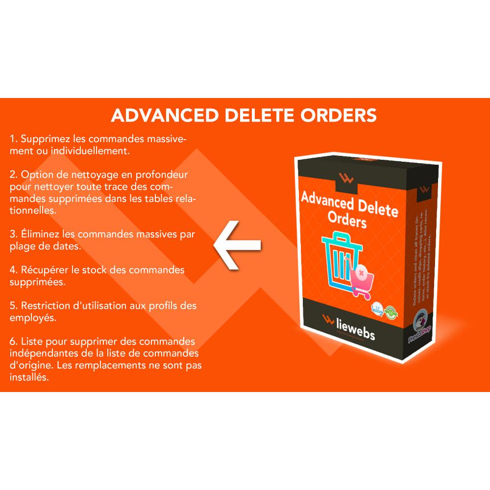 module - Gestion des Commandes - Advanced Delete Orders - Supprimer les commandes - 1