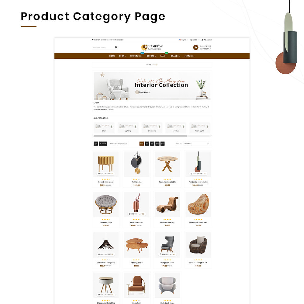 theme - Heim & Garten - HAMPTON Mega Furniture–Craft Interior–Home-Decor Store - 3