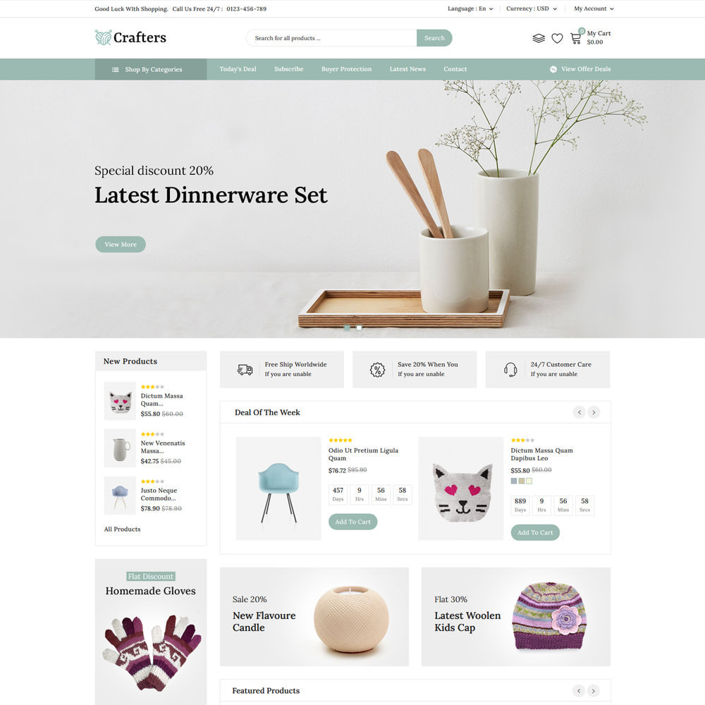 theme - Art & Culture - Crafters - Art and Decor Store - 4