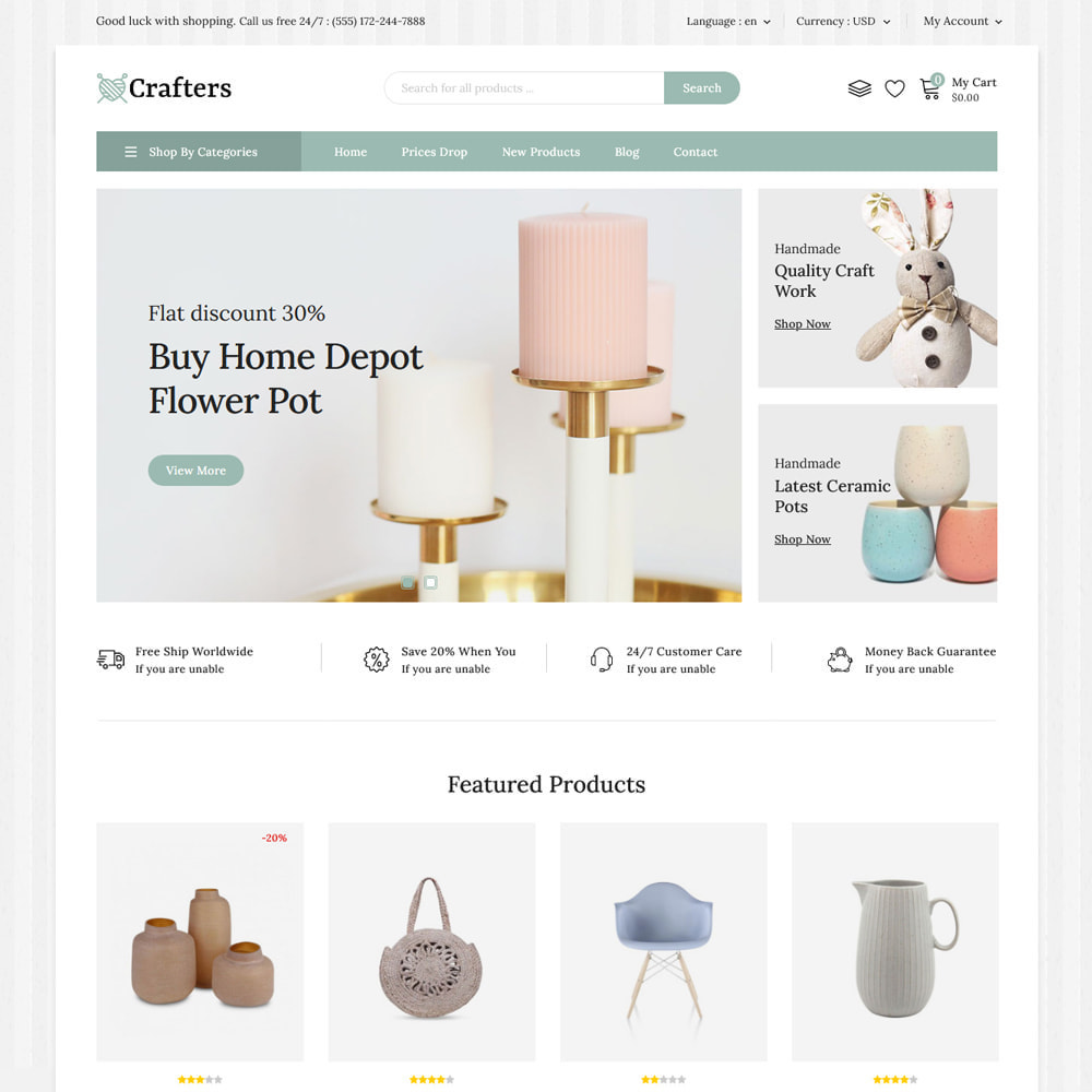 theme - Art & Culture - Crafters - Art and Decor Store - 7