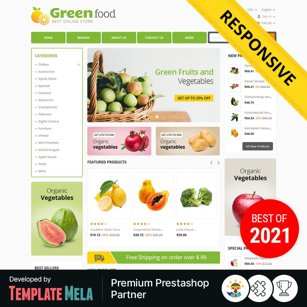 theme - Lebensmittel & Restaurants - Green Food, Vegetables and Fruits Store - 1