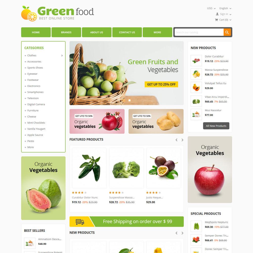 theme - Lebensmittel & Restaurants - Green Food, Vegetables and Fruits Store - 2