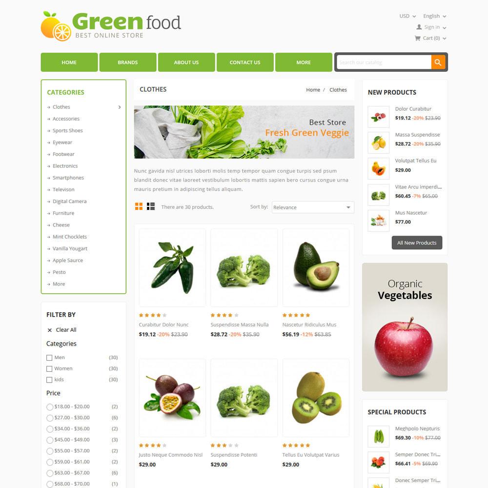 theme - Lebensmittel & Restaurants - Green Food, Vegetables and Fruits Store - 3