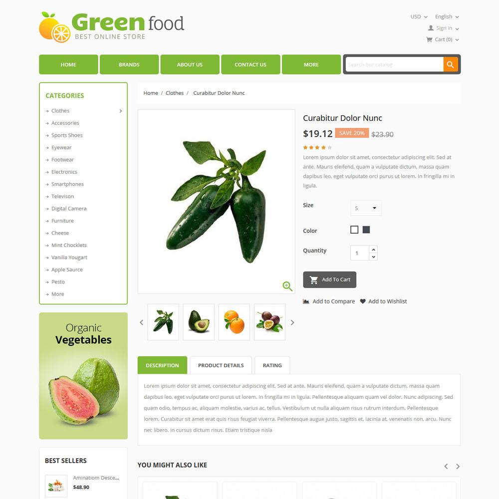 theme - Lebensmittel & Restaurants - Green Food, Vegetables and Fruits Store - 4