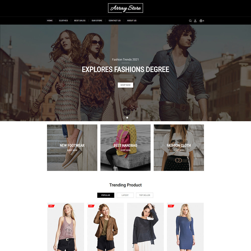 theme - Moda y Calzado - Array Fashion Store - 2