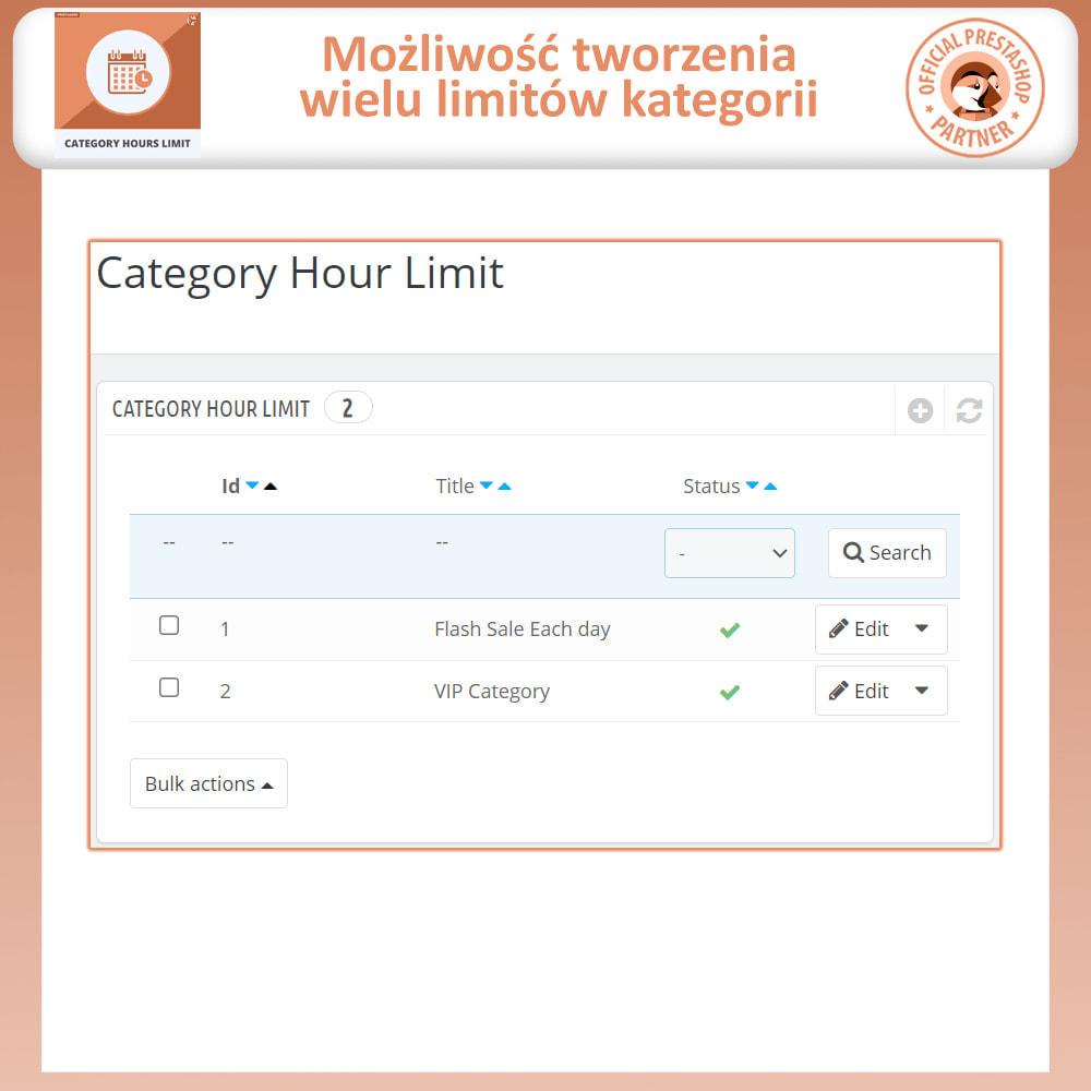 module - Sprzedaż Flash & Sprzedaż Private - Category Hours Limits - 3