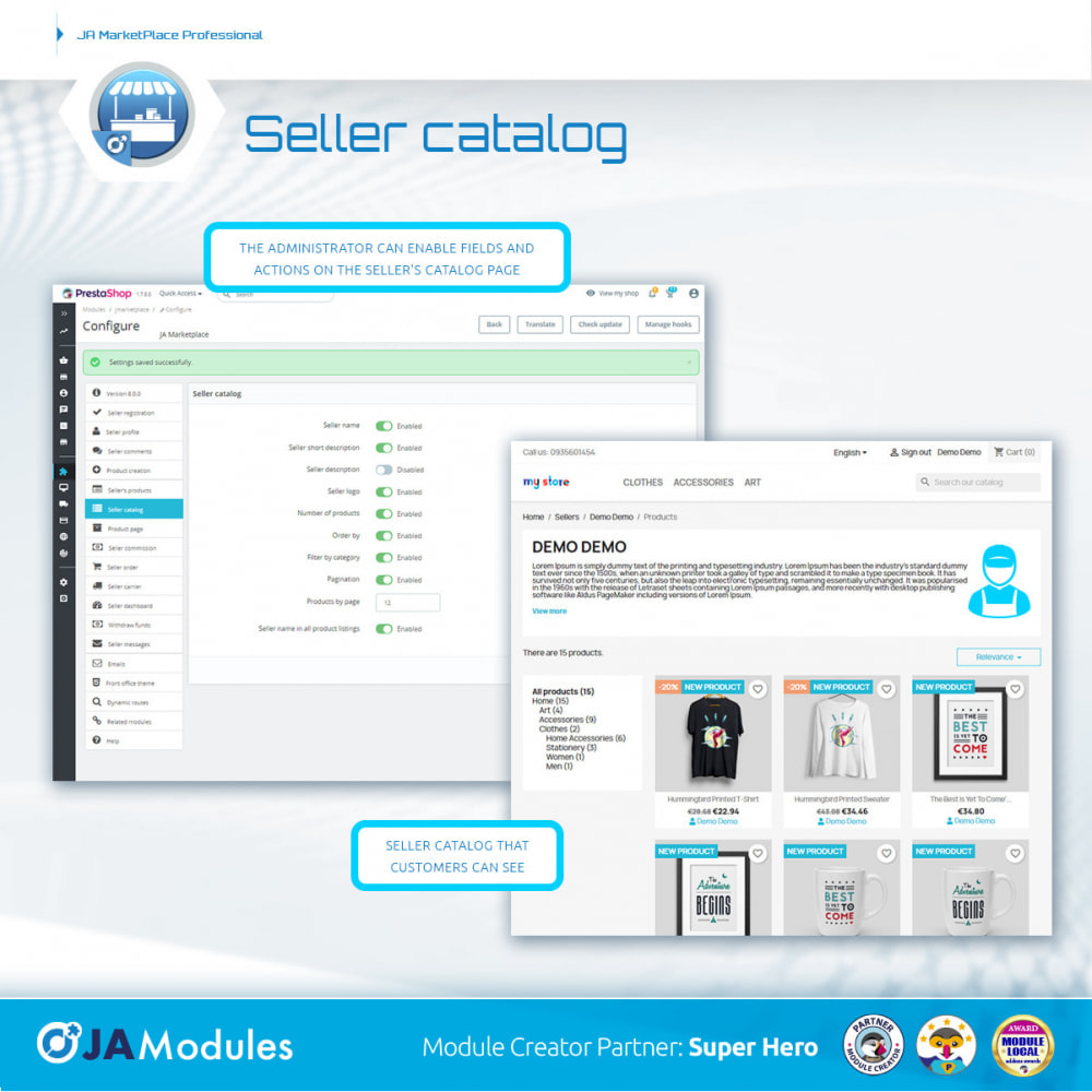 module - Creazione Marketplace - JA Marketplace - 12