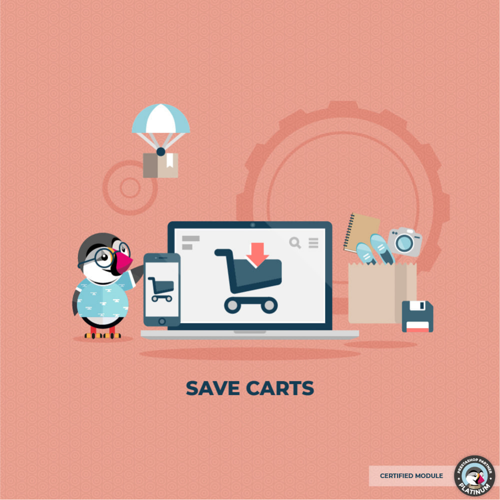 module - Registratie en Proces van bestellingen - Save carts - 1