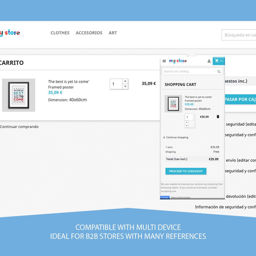 module - Registratie en Proces van bestellingen - Save carts - 3