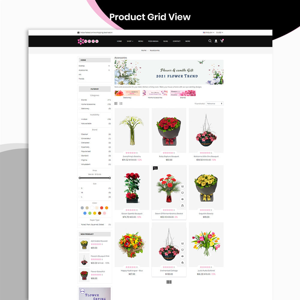 theme - Prezenty, Kwiaty & Uroczystości - Amora Flower Gift Store - 3