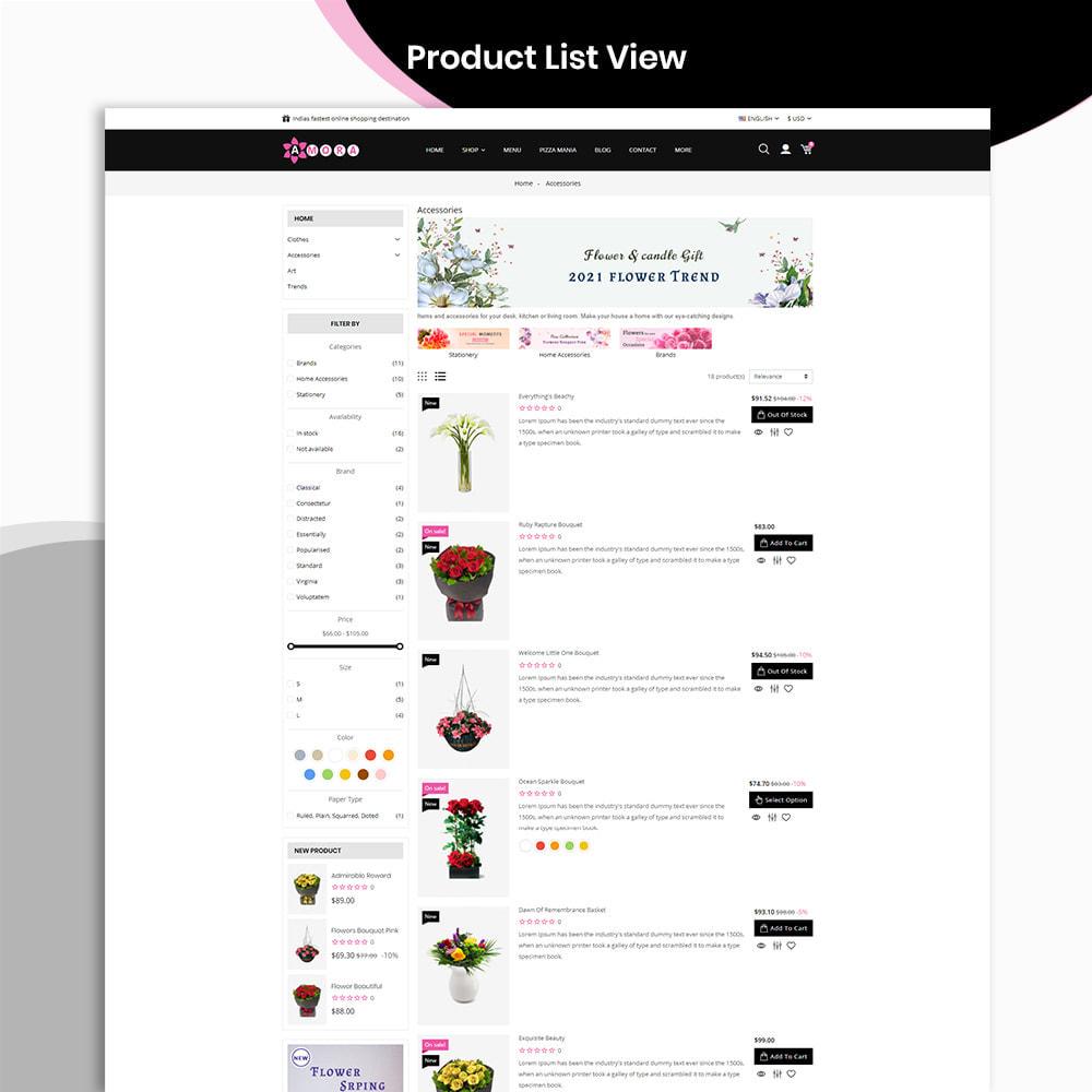 theme - Prezenty, Kwiaty & Uroczystości - Amora Flower Gift Store - 5